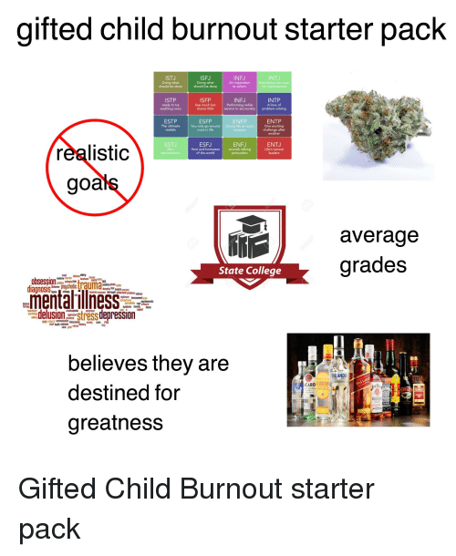 Gifted Child Burnout Starter Pack ISFJ Doing What Should Be