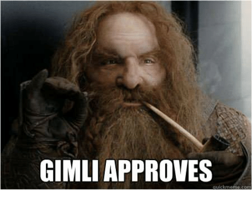 gimli approves 26038877 gimli approves approves meme on me me