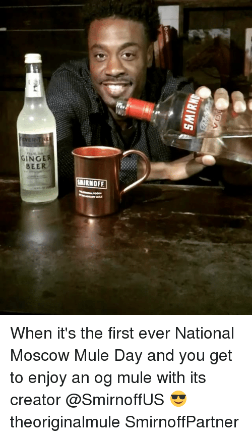 ginger beer airnoff when its the first ever national moscow 15592977 25 best moscow mule memes cocktails memes, thinking hard memes