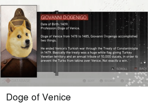 giovanni dogenigo date of birth 1409 profession doge of venice 22182091 ✅ 25 best memes about doge of venice doge of venice memes