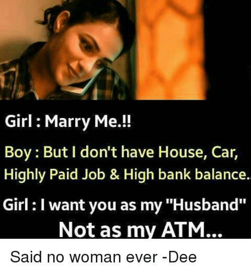 Girl want to marry boy