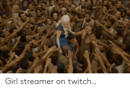 Twitch, Girl, and Streamer: Girl streamer on twitch..