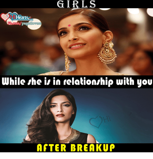 Girls after breakup