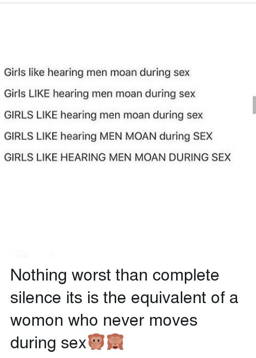 Is it normal to moan during sex