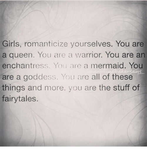 you are a goddess