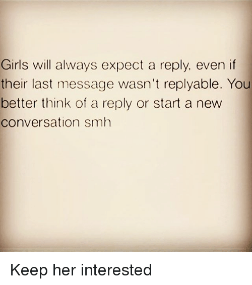 what to text a girl to keep her interested