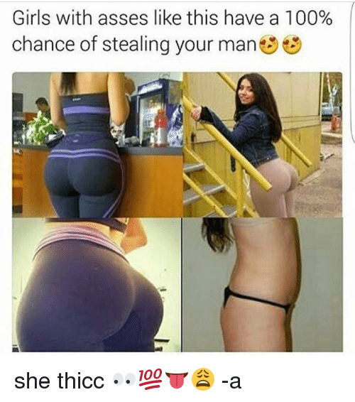 thicc girl ass