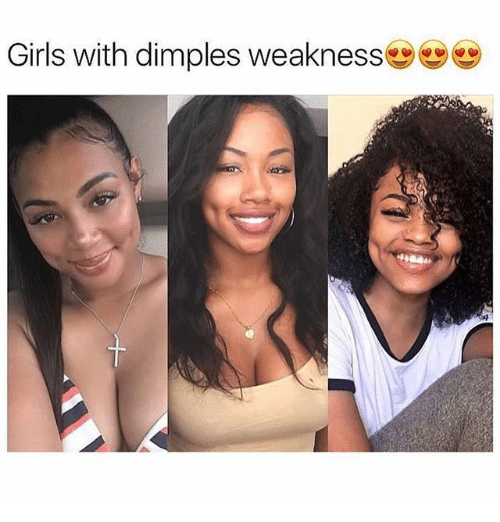 pretty girls with dimples