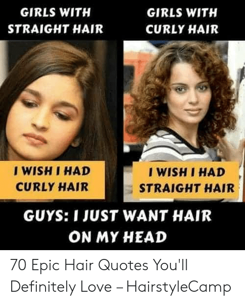 Girls With Girls With Straight Hair Curly Hair I Wish I Had