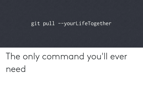 Git Pull --yourLifeTogether the Only Command You'll Ever