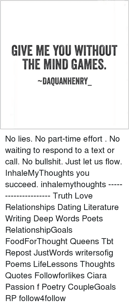 Part time relationship dating