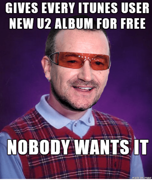 gives every itunes user new u2 album for free nobody 4259877 gives every itunes user new u2 album for free nobody wants it made