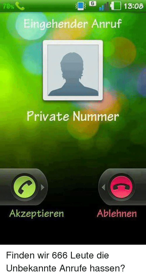anruf private nummer