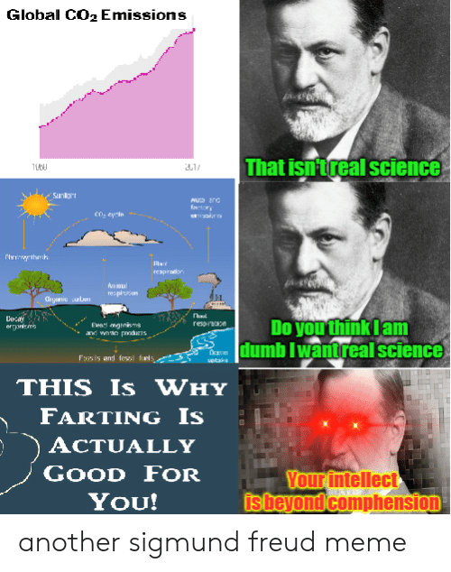 Funny, Good for You, and Meme: Global CO2 Emissions  hatisntreal science  Muto arO  factors  rexprador  n mal  resp aI  Do you think Iam  Daca:Umb lwantreal science  Foss is and fossl furls  pake  THIS Is WHY  FARTING Is  ACTUALLY  GooD FOR  You!  Your intellect  sheyond comphension another sigmund freud meme