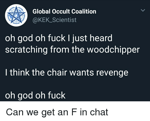 Global Occult Coalition Oh God Oh Fuck I Just Heard Scratching From