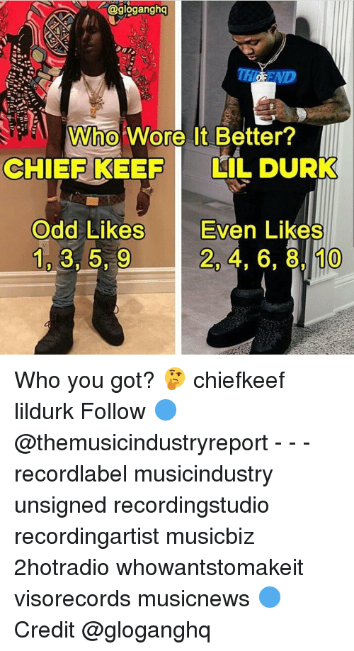 Who Wore It Better Chief Keef Lil Durk Odd Likes Even Likes 10 3 59