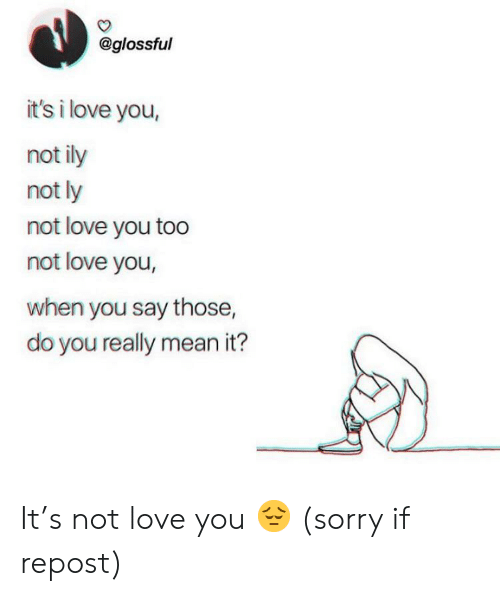 It's I Love You Not Ily Not Ly Not Love You Too Not Love You