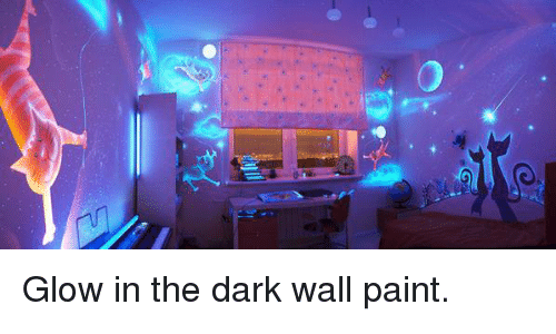 Memes And The Darkness Glow In Dark Wall Paint