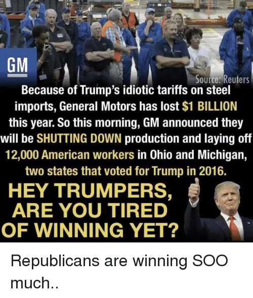 Image result for trump & general motors