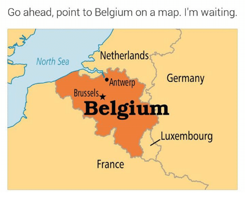 belgium france and germany go ahead point to belgium on a map