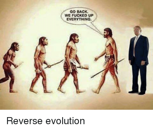 go back we fucked up everything reverse evolution 6111447 ✅ 25 best memes about go back we fucked up go back we fucked,Memes Evolution