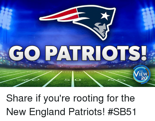 Go Patriots >> Go Patriots The Iew 20 Share If You Re Rooting For The New