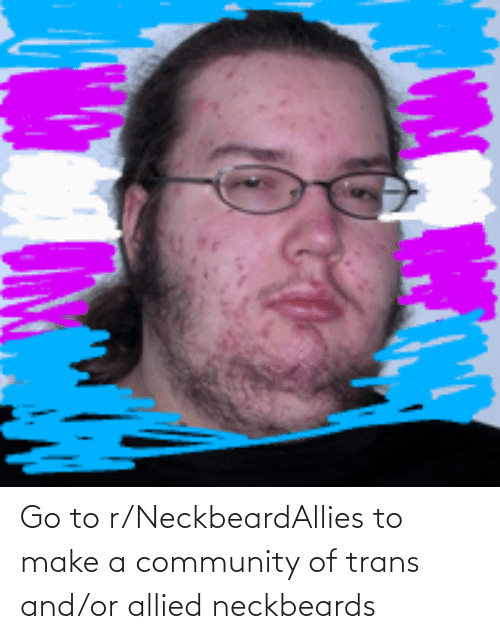 Community, Make A, and Make: Go to r/NeckbeardAllies to make a community of trans and/or allied neckbeards