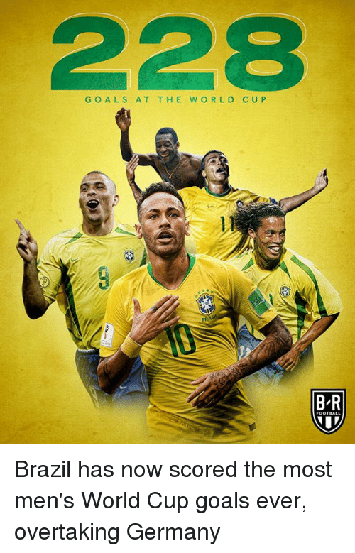 Who scored the most world cup goals for brazil