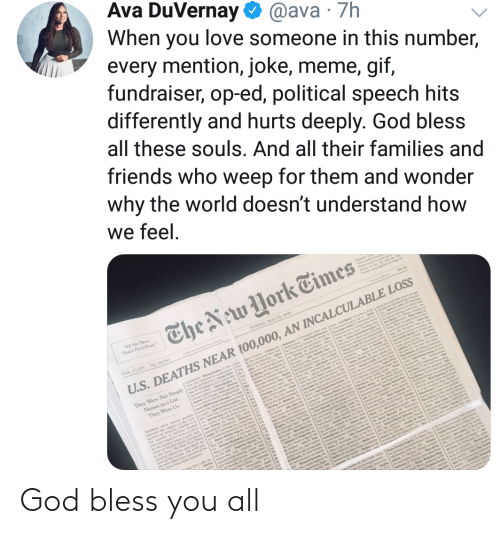 God, All, and You: God bless you all