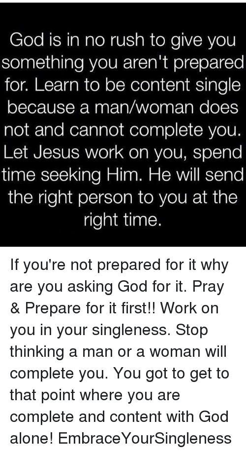 Asking god for the right man