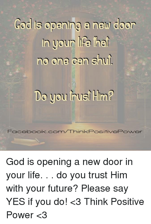 God Is Opening a New Door in Your Le Ha Ne One Can S O You
