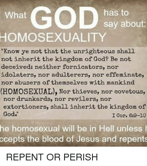 What god says about homosexuality photos 65