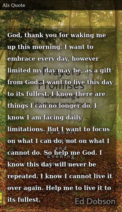 God Thank You for Waking Me Up This Morning I Want to ...