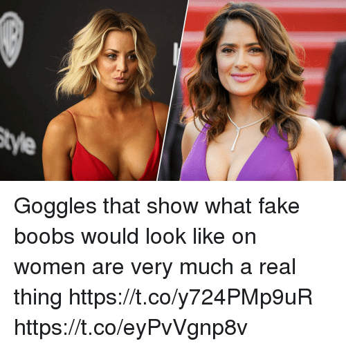 Real boobs that look fake