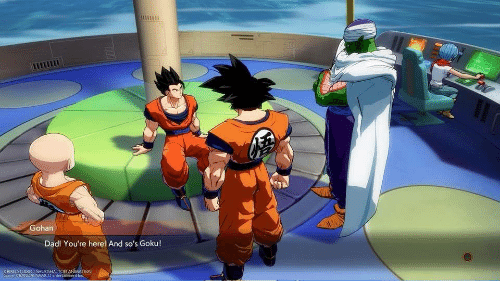 gohan dad you re here and so s goku game cbandanamco