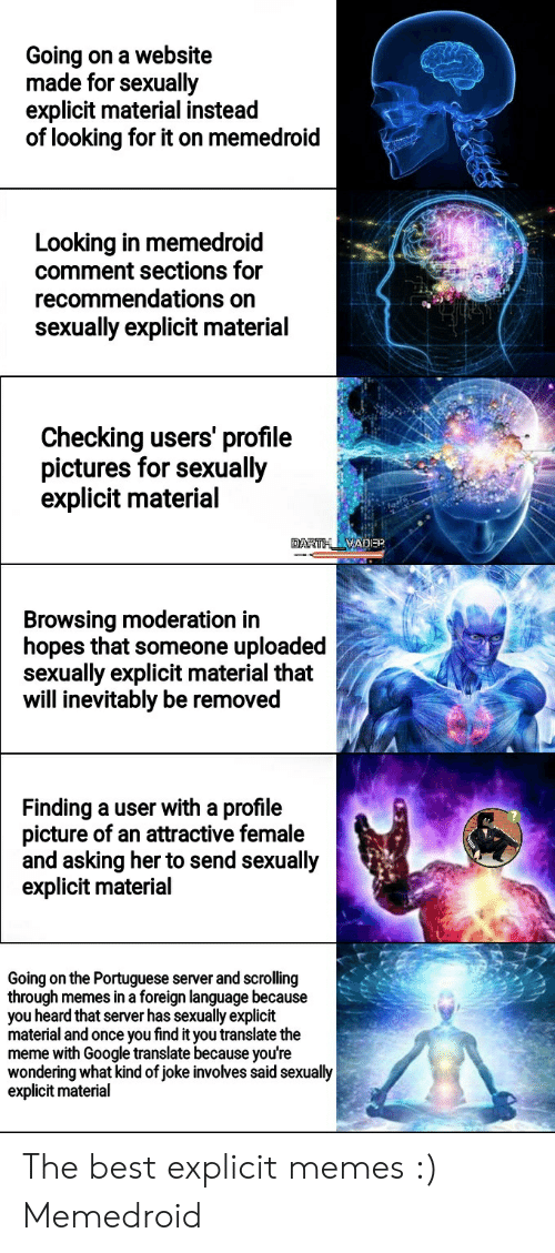 Going on a Website Made for Sexually Explicit Material