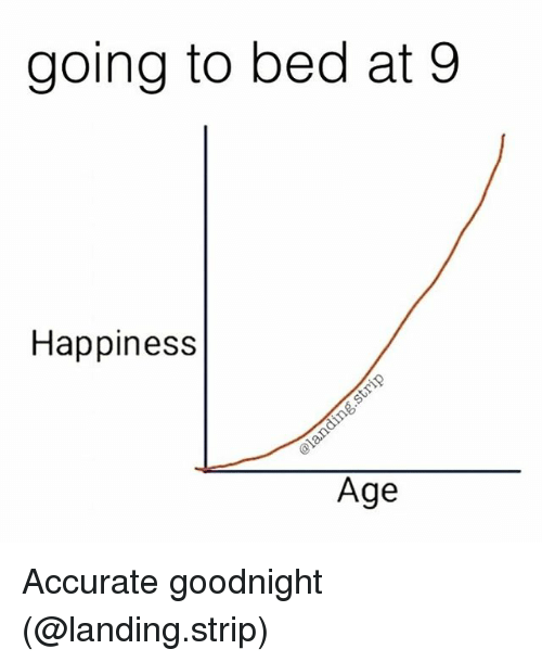 Teaching, Beds, and Goodnight: going to bed at 9  Happiness  Age Accurate goodnight (@landing.strip)