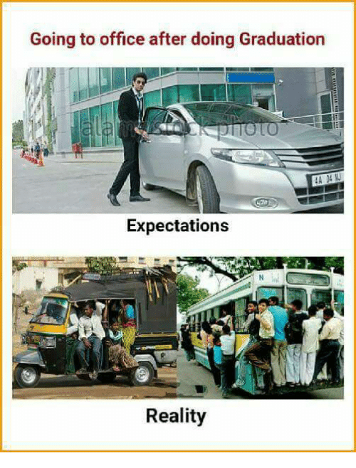 Memes, Office, and Reality: Going to office after doing Graduation  Expectations  Reality