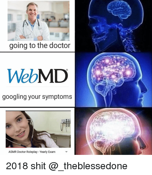 Doctor, Shit, and webMD: going to the doctor  WebMD  googling your symptoms  ASMR Doctor Roleplay - Yearly Exam 2018 shit @_theblessedone