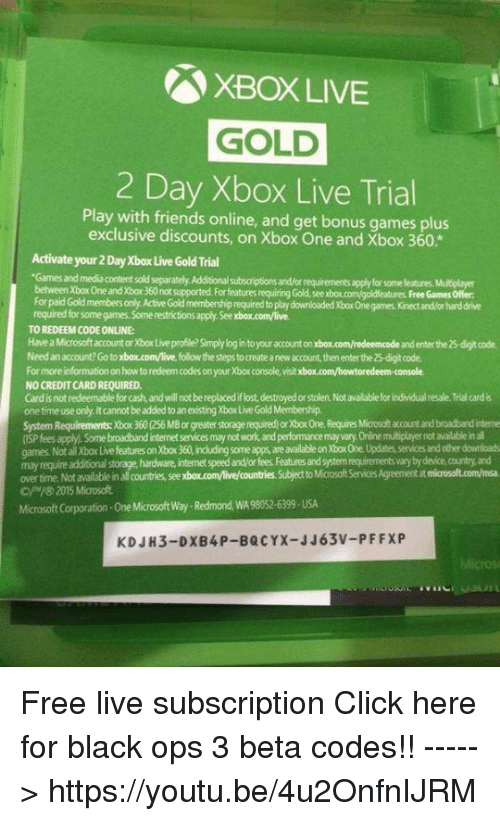 How can i get a free trial of xbox live gold