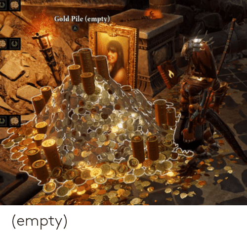 Gold, Empty, and Pile: Gold Pile (empty) (empty)