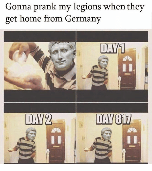 Prank, Germany, and Home: Gonna prank my legions when they  get home from Germany  DAY1  DAY2  DAY817