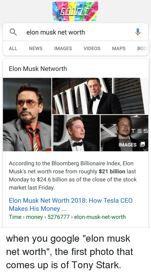GOOCLE Q Elon Musk Net Worth ALL NEWS IMAGES VIDEOS MAPS BO