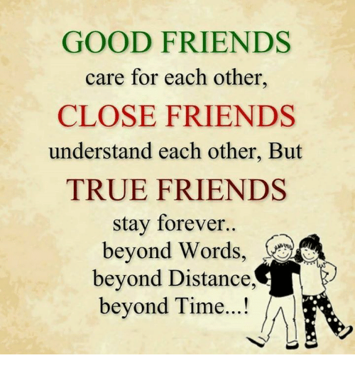 20 Heart Touching Birthday Wishes For Friend: GOOD FRIENDS Care For Each Other CLOSE FRIENDS Understand
