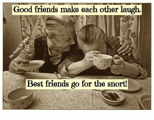 Good Friends Make Each Other Laugh Best Friends Go For The