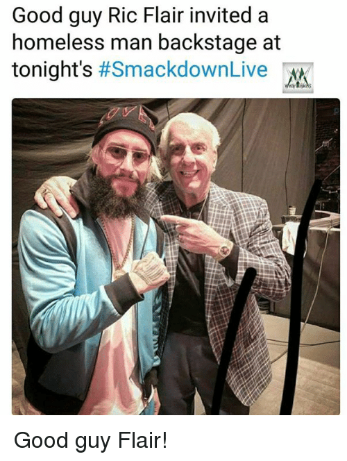 Good Guy Ric Flair Invited a Homeless Man Backstage at