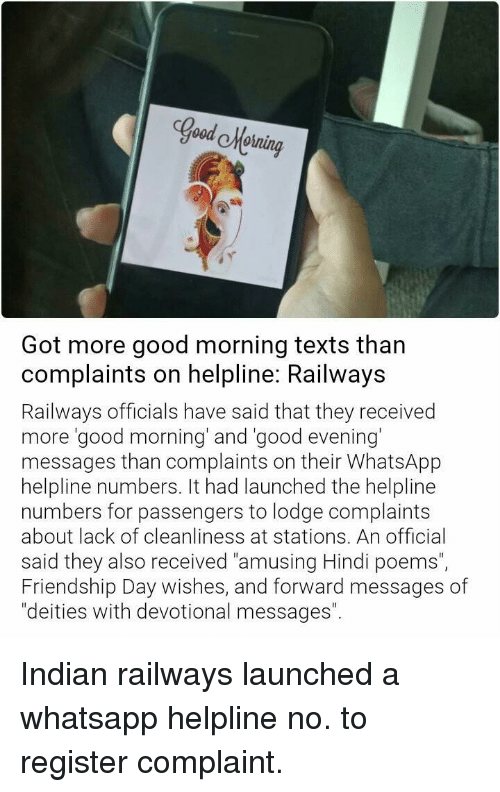 Good Hoining at Got More Good Morning Texts Than Complaints on