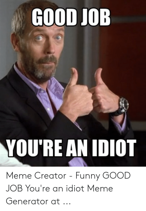youre an idiot memes