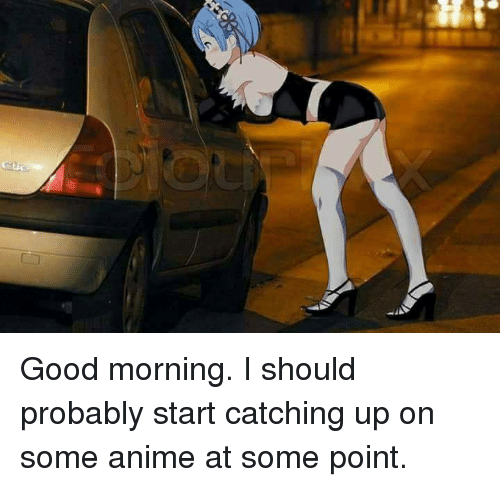 Good Morning I Should Probably Start Catching Up On Some Anime At