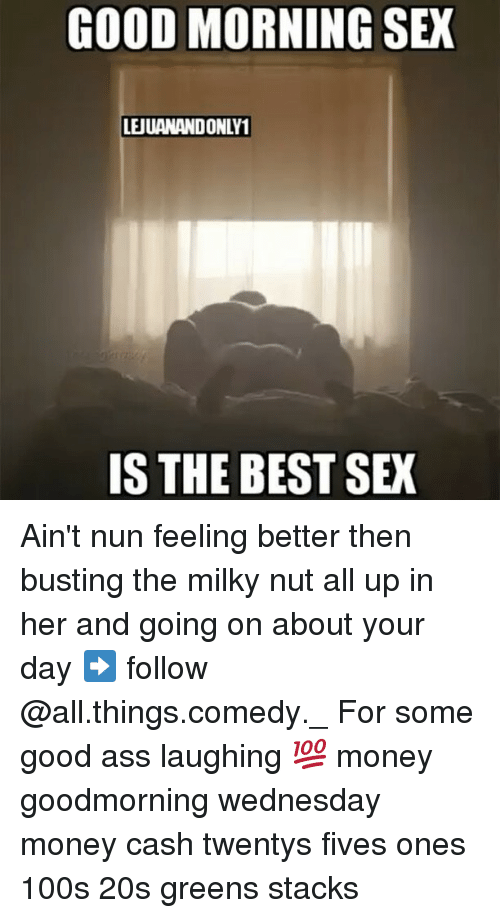 Feeling good after sex